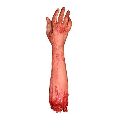 (Horror Blutige Gefälschte Abgetrennten Arm Werkzeug Gebrochenen Arm Streich Trick Halloween Party Requisiten 1 STÜCKE)