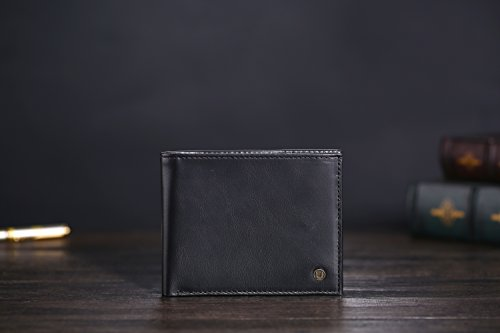 31buh7k1A9L - Cronus & Rhea® | Luxury wallet with coin pocket made of exclusive leather (Plutus) | Wallet - Money Clip | Real leather | With elegant gift box | Men