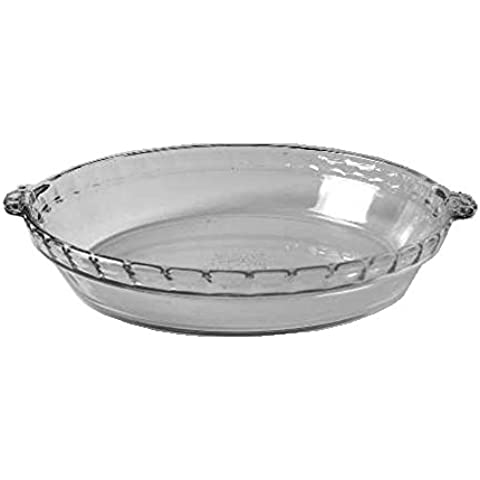 Pyrex 9.5 Clear Glass Pie Plate with Handles #229 by