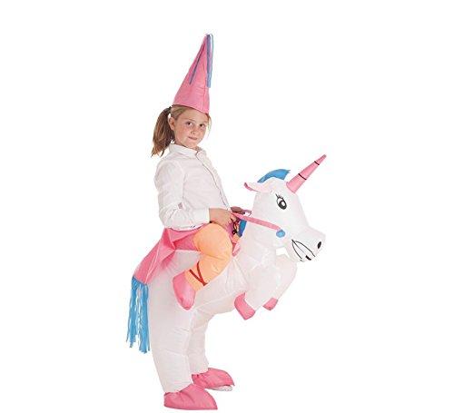 Disfraz Hinchable de Hada montando Unicornio para niña