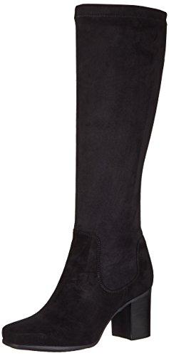 Clarks Damen Kensett Daphne Stiefel, Schwarz (Black Combi), 41 EU (Schwarz Wildleder Damen Stiefel)