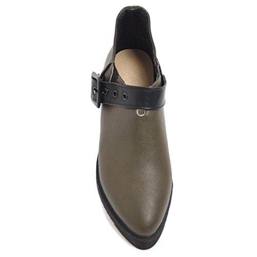 COOLCEPT Femmes Mode a Enfiler Chaussures Plateforme Black