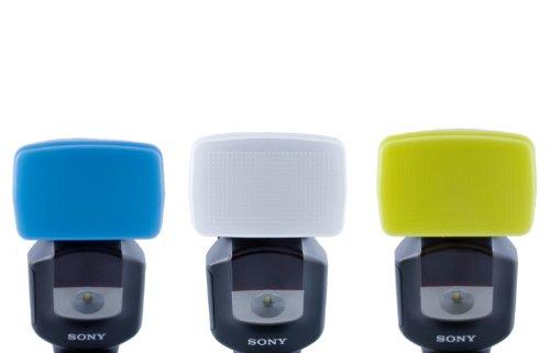 3 Farben Bouncer/ Diffusorset - 100% passgenau für Sony HVL-F43M - Sony-hvl