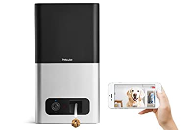 Petcube Bites Pet Camera with Treat Dispenser. HD 1080p Video Camera for Pet Monitoring. Two-Way Audio, Wi-Fi, Night Vision. For Dogs and Cats