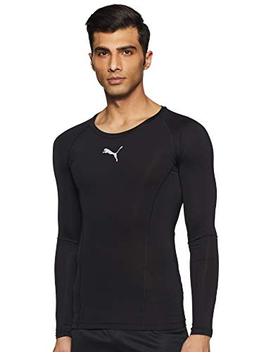 Puma Herren Liga Baselayer Tee Ls Shirt, Puma Black, S