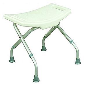 Mobiclinic, Delta, Silla o taburete de baño, de ducha, ortopédica, altura regulable, respaldo, reposabrazos, conteras…