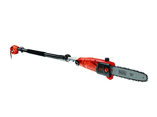 Black + Decker 800W Hochentaster, 25 cm Schwertlänge, 2.7m Länge, 11 m/s Kettengeschwindigkeit, schwenkbarer Kopf PS7525 -