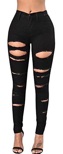 Wisptime Frauen Skinny Ripped Denim Jeans Distressed Bleistift Hose Boyfriend Hose - Junioren Distressed Skinny Jeans