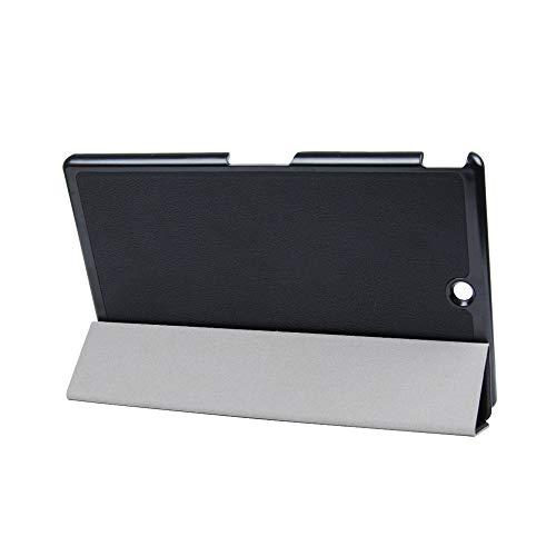 sony xperia z3 tablet Kepuch Custer Sony Xperia Z3 Tablet Compact Custodia - PU Pelle Folio Custodia Case Cover per Sony Xperia Z3 Tablet Compact - Nero
