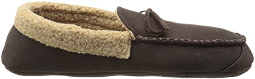 Dockers Mens Andrew Roll Collar Slipper Moccasin Brown