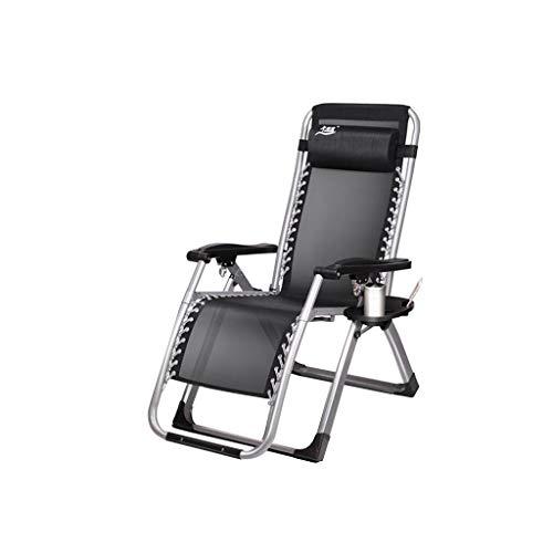 Stühle XUERUI Klappstühle Garten Sonnenliegen Stahl Multifunktions Liegestuhl StrandstuhlMulti-Winkel-Anpassung Zusammenklappbare Kopfstütze Schwarz Strandkörbe Sessel - Stoff Stahl Bar Hocker