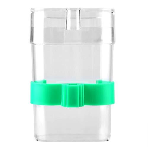 Garosa Papageien-Wasserzufuhr-automatische Papageien-Wasserspender-Schüssel-transparente praktische Vogel-Wasser-trinkende Fütterungsflasche