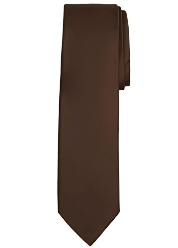 Jacob Alexander Solid Color Men's Regular Tie - Cocoa Brown
