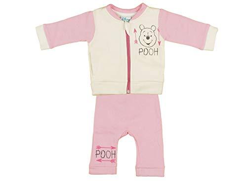 Mädchen Junge Unisex Neugeborene Baby Set Jacke mit Hose aus Baumwolle, 56 62 68 74 80 86 von Disney Winnie The Pooh 0 3 9 12 WARM gefüttert mit Ohren ohne Kaputze zweiteilig Farbe Rosa, Größe 62 -