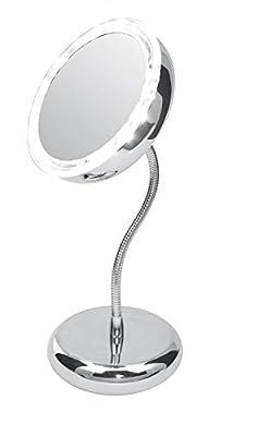360° LED Kosmetikspiegel Schminkspiegel Tischspiegel Standspiegel Spiegel mit LED Beleuchtung beleuchtet tragbar 5-Fach Vergrößerung von Adler auf Spiegel Online Shop