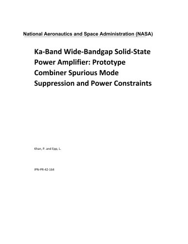 Ka-Band Wide-Bandgap Solid-State Power Amplifier: Prototype Combiner Spurious Mode Suppression and Power Constraints (Combiner Band)