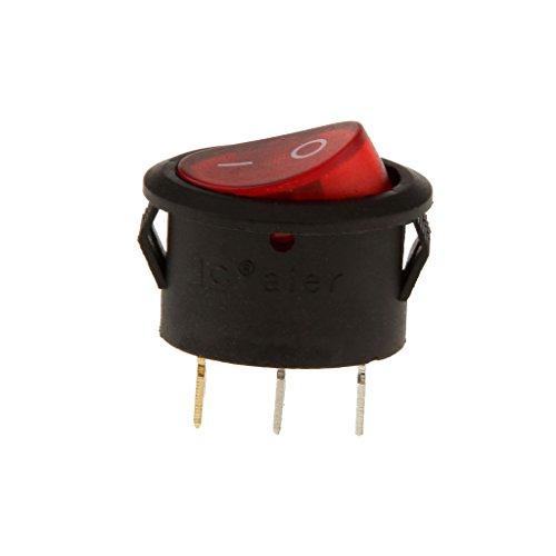 Conmutador de Tipo de Nave Ovalada de encendido y Apagado 3 Pies con Dispositivo de Lámpara de Uso Doméstico Interruptor Rojo