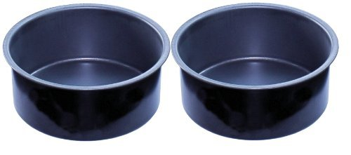 """Lets Cook 6"""" Round Cake Tin Twinpack, Extra Deep with Endurance Non Stick, British Made"""