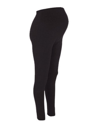 New Stretchy Maternity Leggings Over Bump Full Length Size 10 12 14 16/18 20/22 24/26 Black (10, Black)