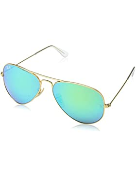 Ray-Ban Aviator Sunglasses in Matte Gold Green Mirror - RB3025 112/19 58 RB3025 112/19 58