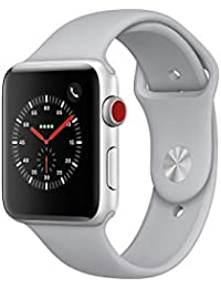 Apple Watch Series 3, 42 mm, GPS + Cellular, Aluminium Gehäuse, Silber mit Sport-Armband, Nebel, 2017