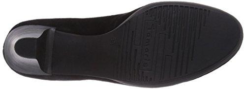 Tamaris  22410, Chaussures à talons - Avant du pieds couvert femme Noir - Schwarz (Black Suede 004)