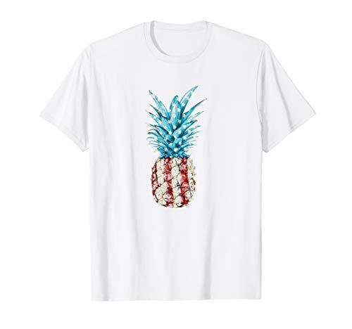 AMERIKA 4. JULI SHIRTS ANANAS AMERIKANISCHE FLAGGE T-Shirt (T-shirts Niedlich, Juli Vierter)