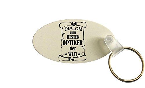 Schlüsselanhänger oval, Diplom zum besten Optiker der Welt