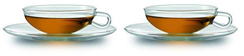 Jenaer Glas Edition Wilhelm Wagenfeld Teetasse mit Untertasse 2er Set