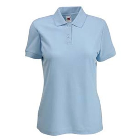 FRUIT OF THE LOOM LADY FIT PIQUE POLO SHIRT - (S-XXL) 9 COLOURS (SMALL - 32