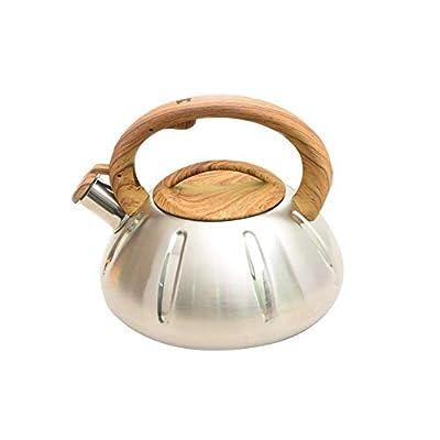 Sheep-H Bouilloire sifflante en Acier Inoxydable,Bouilloire à gaz Grande capacité,Bouilloire Sifflante pour Cuisinière Compatible Induction 3L