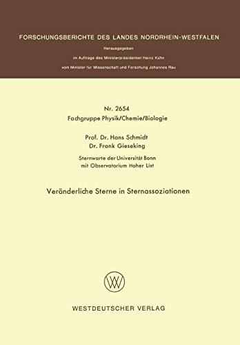 Veränderliche Sterne in Sternassoziationen (Forschungsberichte des Landes Nordrhein-Westfalen, Band 2654)
