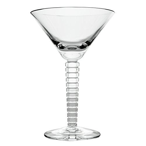 Cristal de Sèvres Vertigo Set de Verres à Martini, Verre, 13 x 13 x 20 cm, Lot de 2