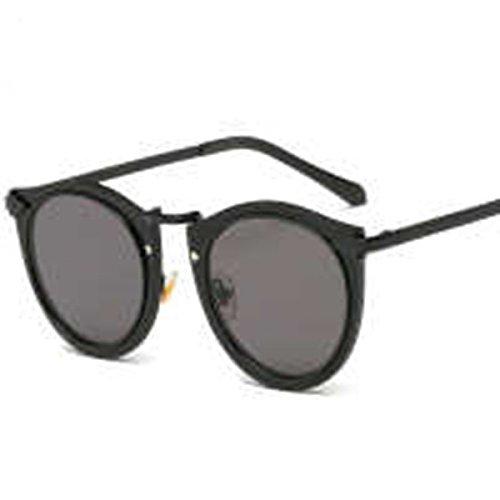 who am i 2017 KW Integral Reflektierende Metall Reiner Flacher Kreisförmige Pfeile Trend Sonnenbrille,Black
