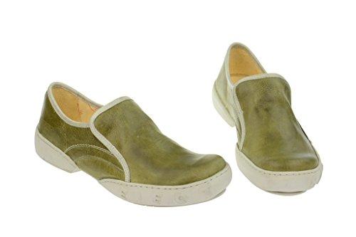 De Mujer Oscuro Color Expulsar Eden Cuero Zapatos Hombre Bajas sena De Verde Mocasines De Cq0Afw0