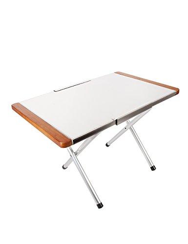 Table Pliante d'été en Plein air Table en Aluminium Massif de Table Table d'apprentissage Portable