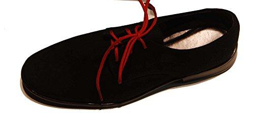 Kommunionschuhe, festliche Schuhe, für Jungs schwarz-Wildlederimitat