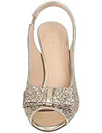 Catwalk Gold Slim Heel Sandals