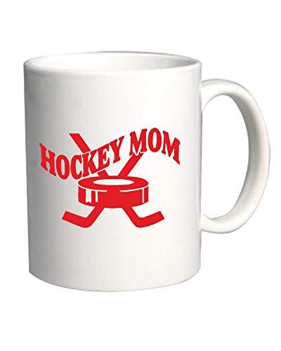 T-Shirtshock Tasse 11oz Weiss FUN1839 Hockey mom - Lustige Hockey-t-shirts