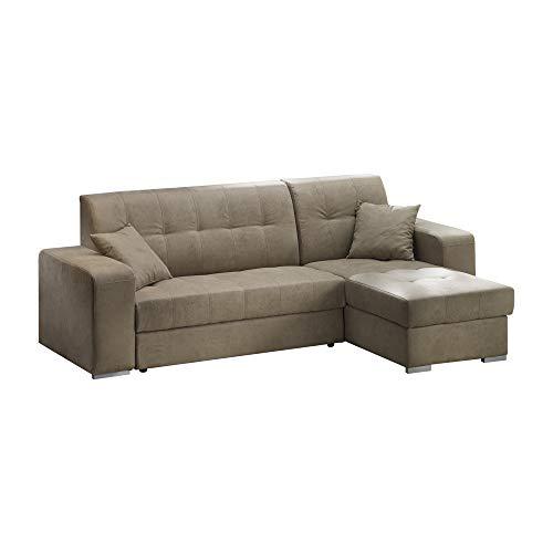 Casarreda store divano letto angolare mod. vienna con penisola reversibile contenitore