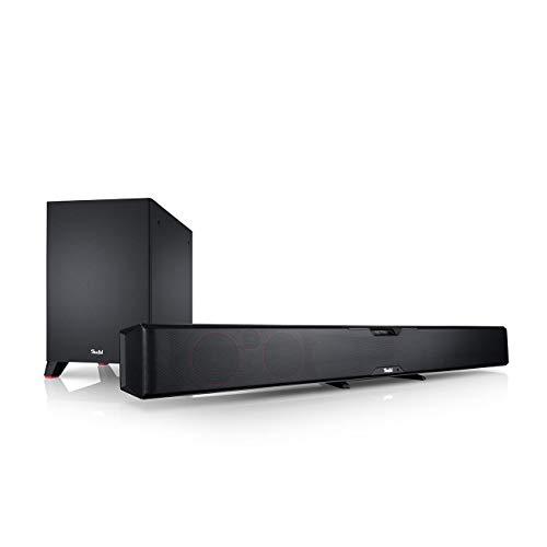 Teufel Cinebar Pro Easy Schwarz Soundbar Sounddeck Surround Dolby digital HD ARC CEC 3D 5.1 HD Sound Blu-ray Blu-ray-System Koaxial DD Digital LAN