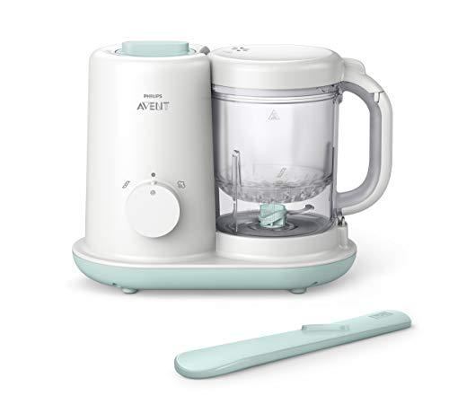 *Philips AVENT 2-in1-Babynahrungszubereiter Dampfgaren & Mixen SCF862/02, weiß*
