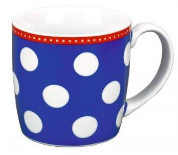 Tasse Große Punkte, blau