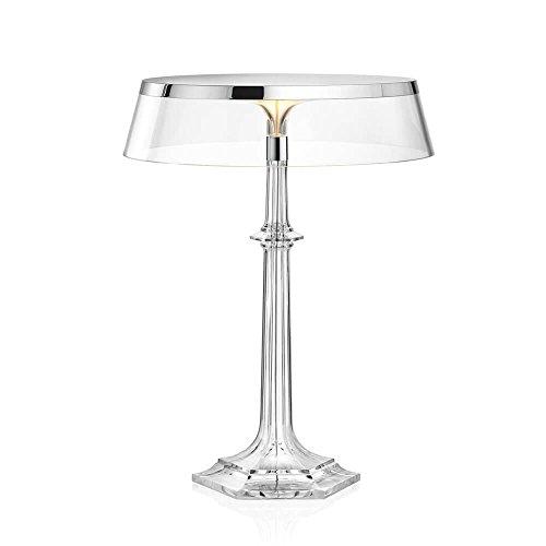 Flos Bon Jour Versailles Lampe de table avec structure chrome et abat-jour transparente