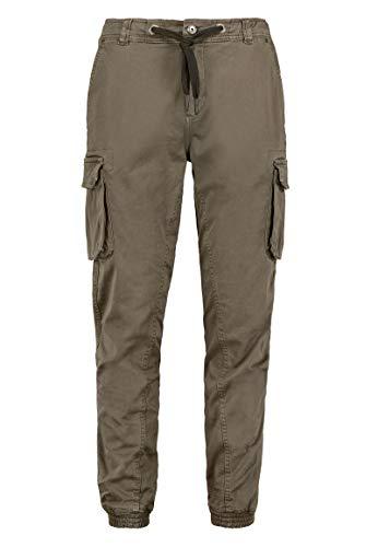 Urban Surface Herren Cargo-Hose mit Taschen und Abnähern Brown 30 - Braun Twill-hose