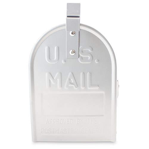US Mailbox Amerikanischer Briefkasten Standbriefkasten Wandbriefkasten Letterbox Silber Inclusive Standpfosten - 6