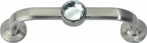 Atlas Homewares 344-BRN Legacy Crystal Brushed Nickel 3.7-Inch Bracelet Pull by Atlas Homewares Crystal Atlas