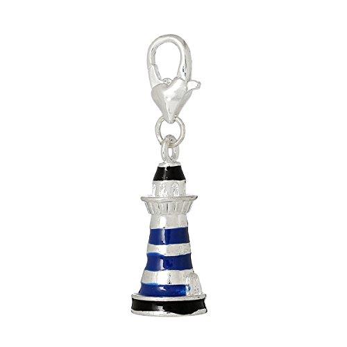 Sexy paillettes femmes maison de Tour à clipser pour bracelet fermoir blue tower clip on