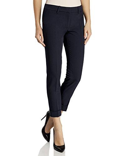 oodji Ultra Damen Hose mit Umschlag, Blau, DE 32 / EU 34 / XXS