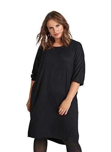 Zizzi Damen Große Größen Kleid Basic 3/4 Arm Locker Alltagskleid Gr 42-56